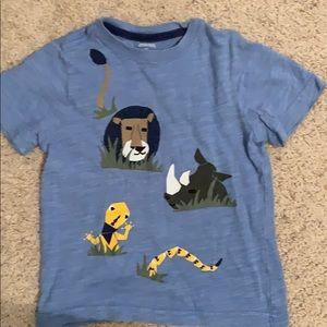 Short sleeve blue T-shirt for kids